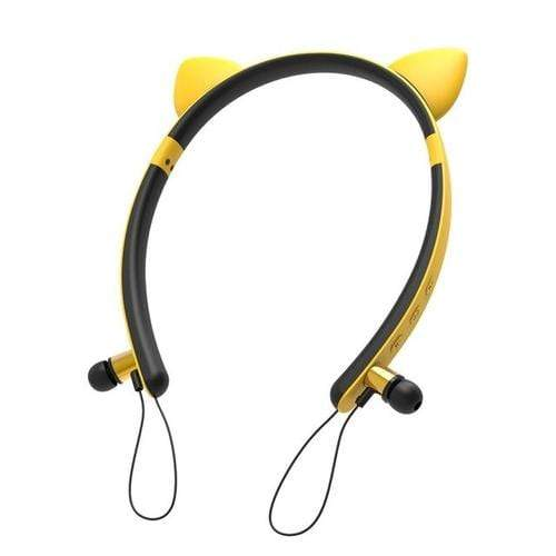 wireless bluetooth earphones Cat ears Cat Shape  LED Magnetic Stereo Wireless Bluetooth Earphone Headphone