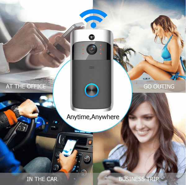 Wireless Video Doorbell ElectronicX™ Best Wireless Video Doorbell Camera For Home Security