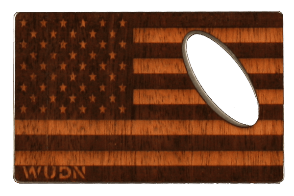 Bottle Opener Gold Nemesis™ American Flag Wood Credit Card Bottle Opener