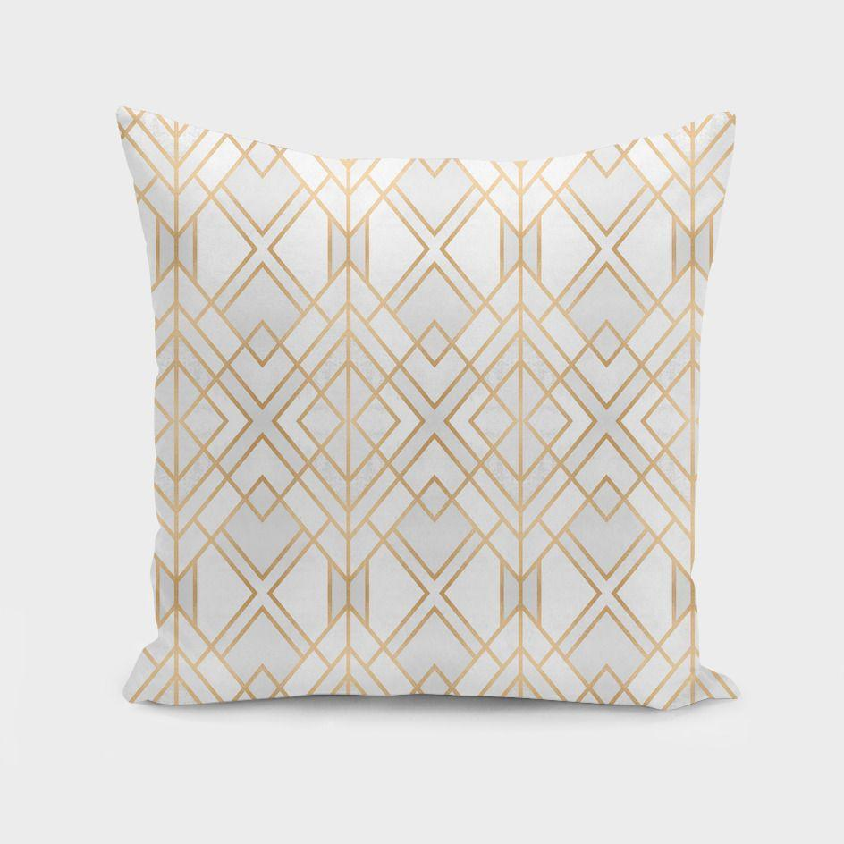 Textiles & Pillows Golden Geo  Cushion/Pillow