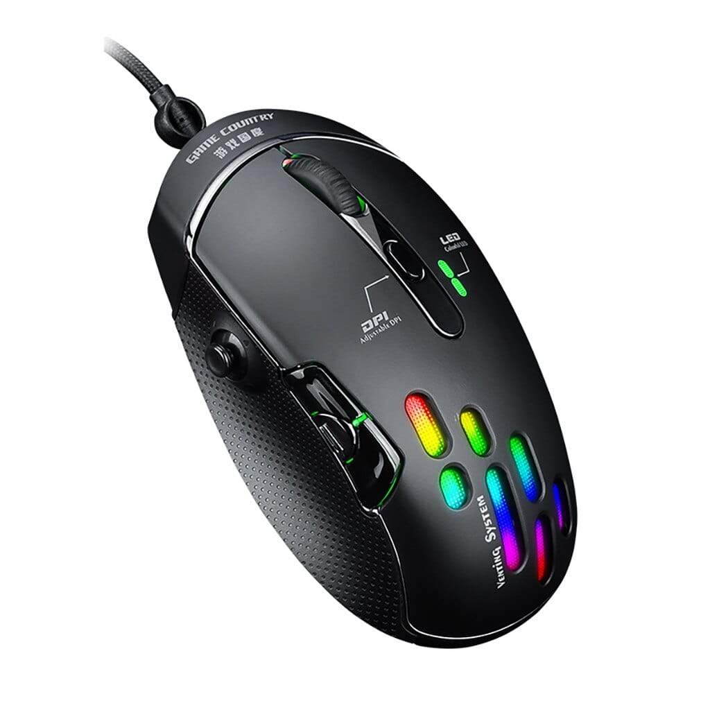 Mobile & Laptop Accessories Black High Quality Wired  Mouse For Gaming, Home & Office