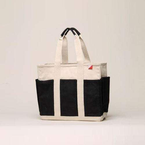 Bags & Wallets 15 x 13 x 7 / Black Medium Grocery Tote - Outside Pockets