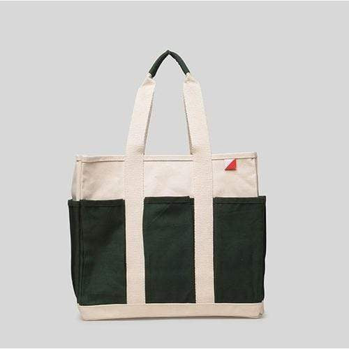 Bags & Wallets 15 x 13 x 7 / Green Medium Grocery Tote - Outside Pockets