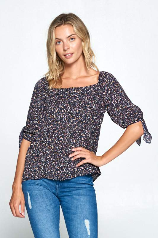 Women's Clothing MULTI COLOR OFF THE SHOULDER TOP