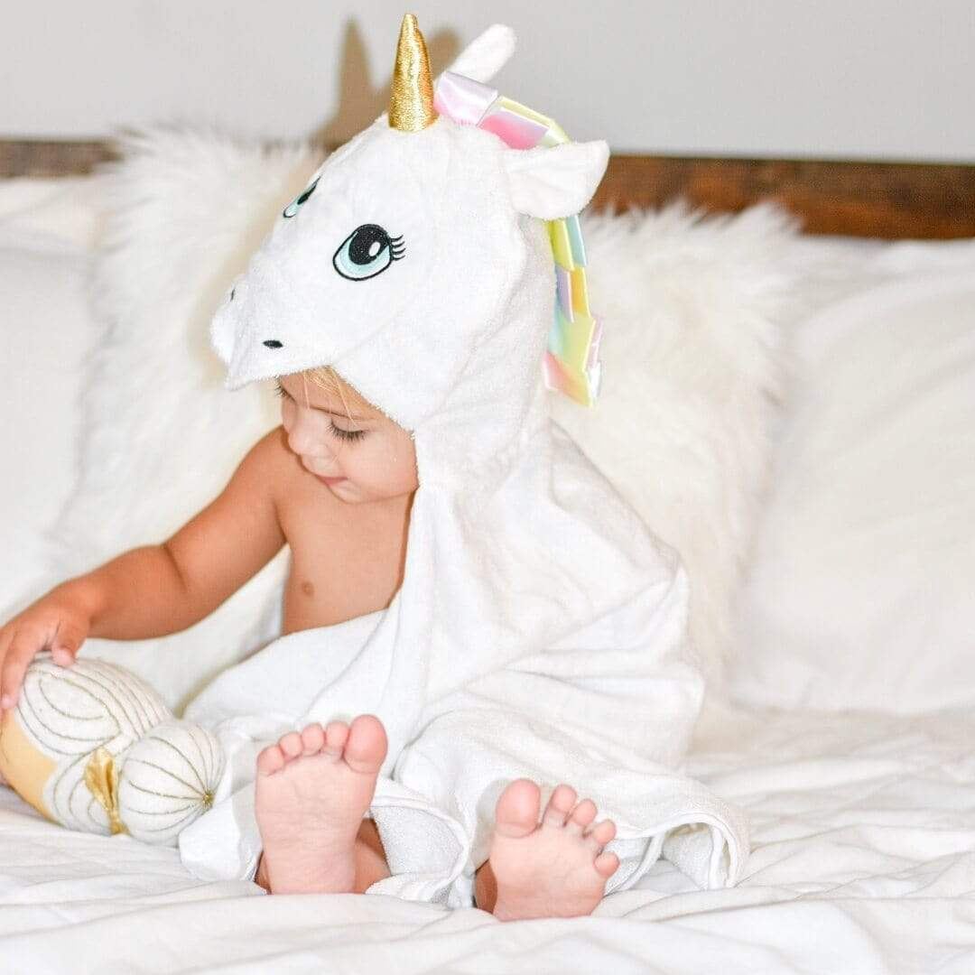 Kids & Babies Soft Comfortable Unicorn Bamboo Baby Hooded Towel