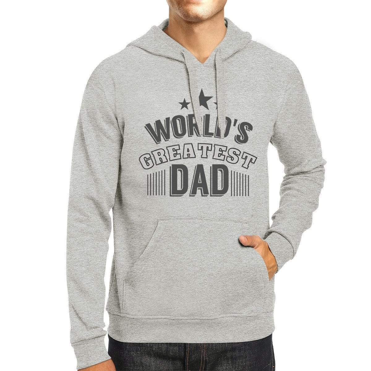 High Quality Durable Grey Hoodie For Father's Day Occasion