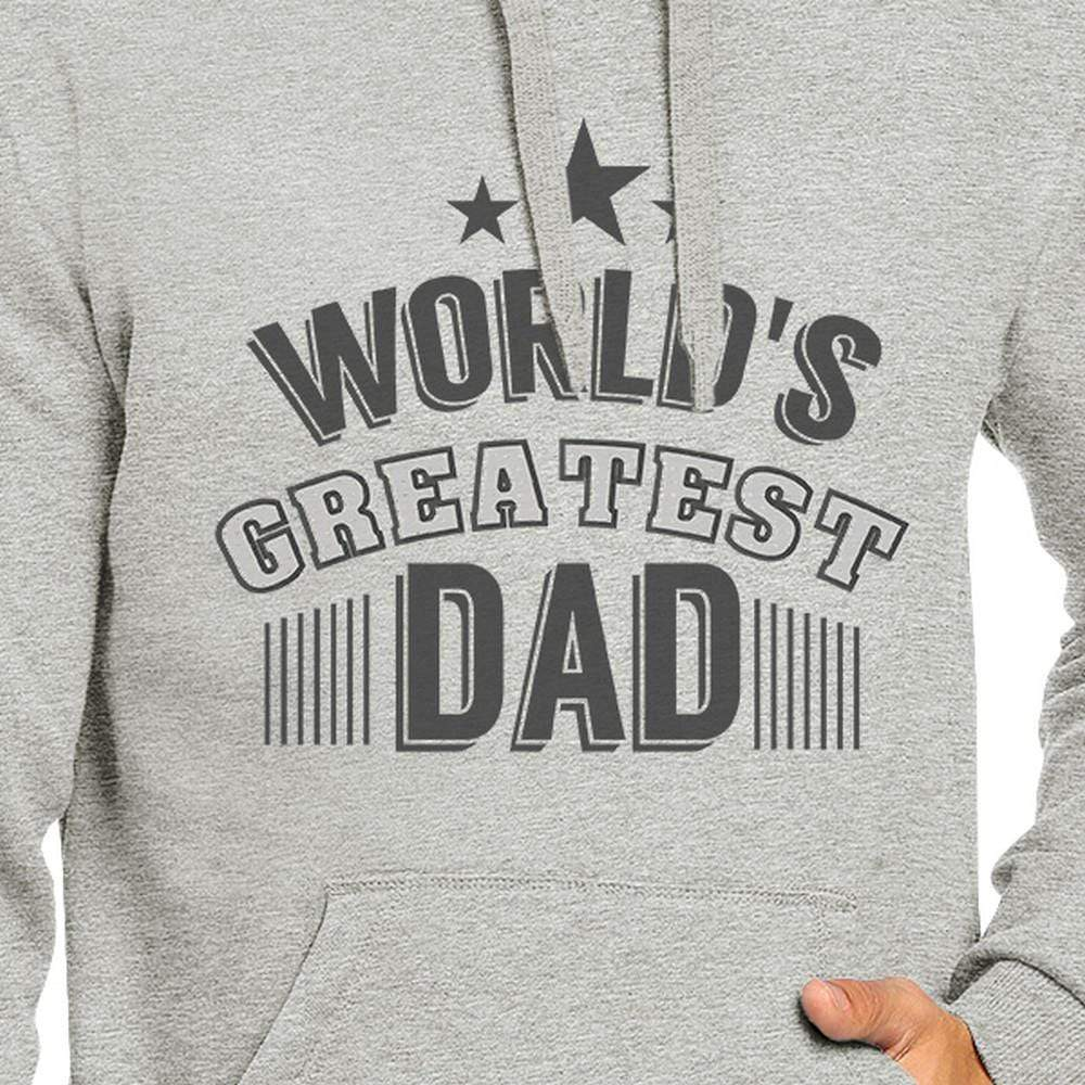Sweaters & Hoodies Worlds Greatest Dad Mens Grey Hoodie Fathers Day