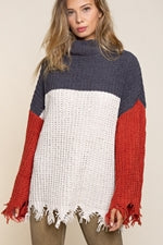 Load image into Gallery viewer, On The Fringe Block Party Sweater