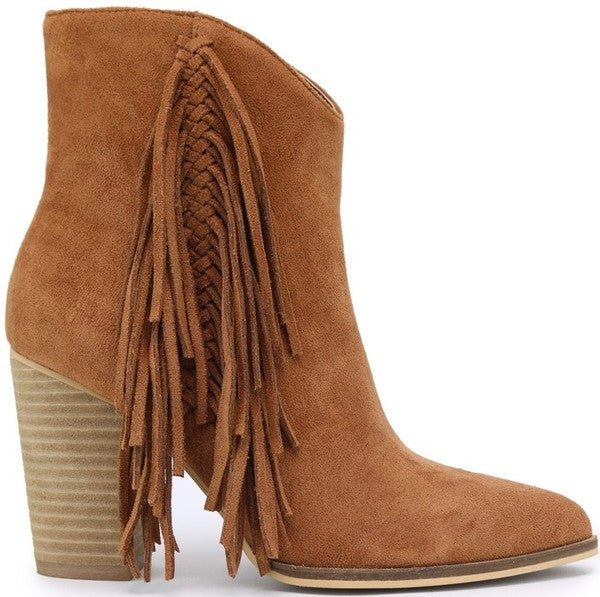 Fringed In Style Booties
