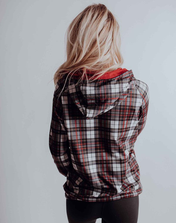 Red Hot In Plaid Hoodie