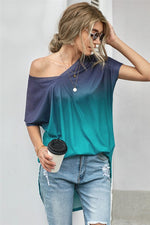 Load image into Gallery viewer, Ombre Color Block Casual Summer Shirt - KaraMarie Boutique
