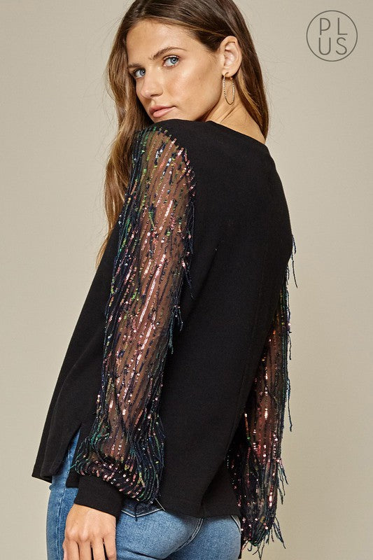 Saturday Sequin Knit Top