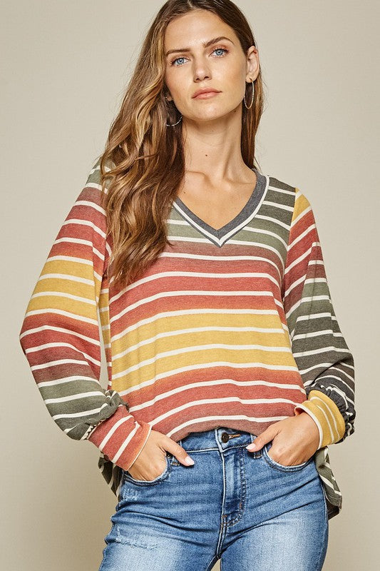 Olive You Forever Striped Top