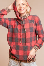 Load image into Gallery viewer, Rad & Cozy In Plaid Zipper Hoodie