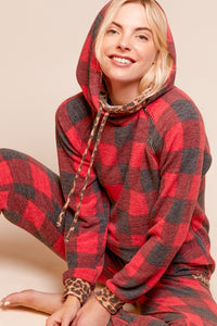 Rad & Cozy In Plaid Zipper Hoodie