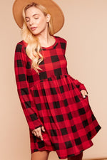 Load image into Gallery viewer, Had Me At Plaid Swing Dress