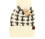 Load image into Gallery viewer, Ombre Double Stitch CC Beanie Pom