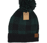 Load image into Gallery viewer, Buffalo Print Jacquard CC Beanie Knit Pom