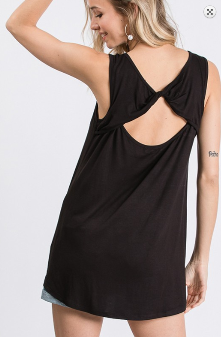 Solid Crossed Open Back Top Tank! Multiple Colors! - KaraMarie Boutique