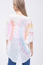 Load image into Gallery viewer, Neon Tie-Dye Open Lightweight Cardigan - KaraMarie Boutique