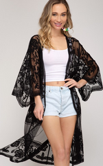 Load image into Gallery viewer, Crochet Lace Kimono! Multiple Colors! - KaraMarie Boutique