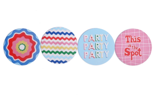 BIRTHDAY DOORBUSTER!!! House Party Coaster Set! - KaraMarie Boutique