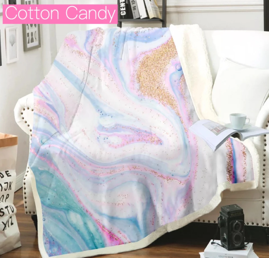 Over-Sized Geode Blankets