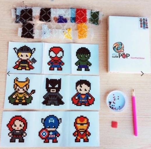 Super Hero + Princess Diamond Painting Stickers