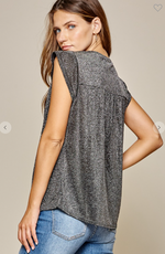 Load image into Gallery viewer, Gunmetal Love Top