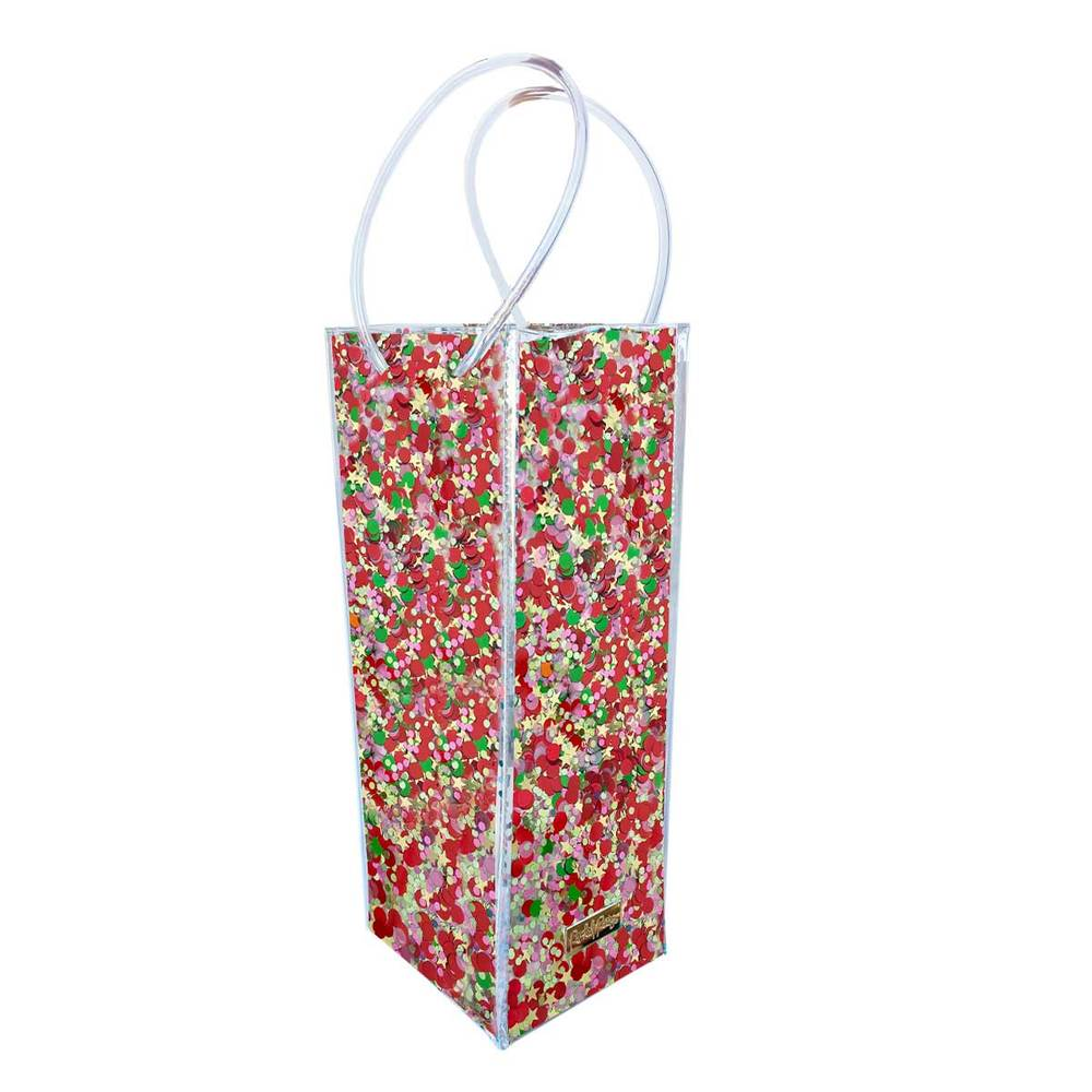 Holiday Cheer Confetti Wine Bag