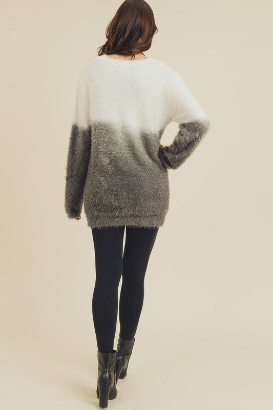 Furry Dreams Dip Dye Sweater