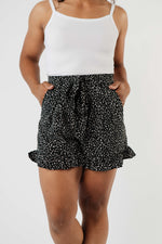 Load image into Gallery viewer, SAMPLE - Short Leash Ruffled Shorts In Black