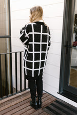 Load image into Gallery viewer, Bold Lines Cardigan in Black