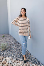 Load image into Gallery viewer, Brand New Attitude Striped Sweater Top
