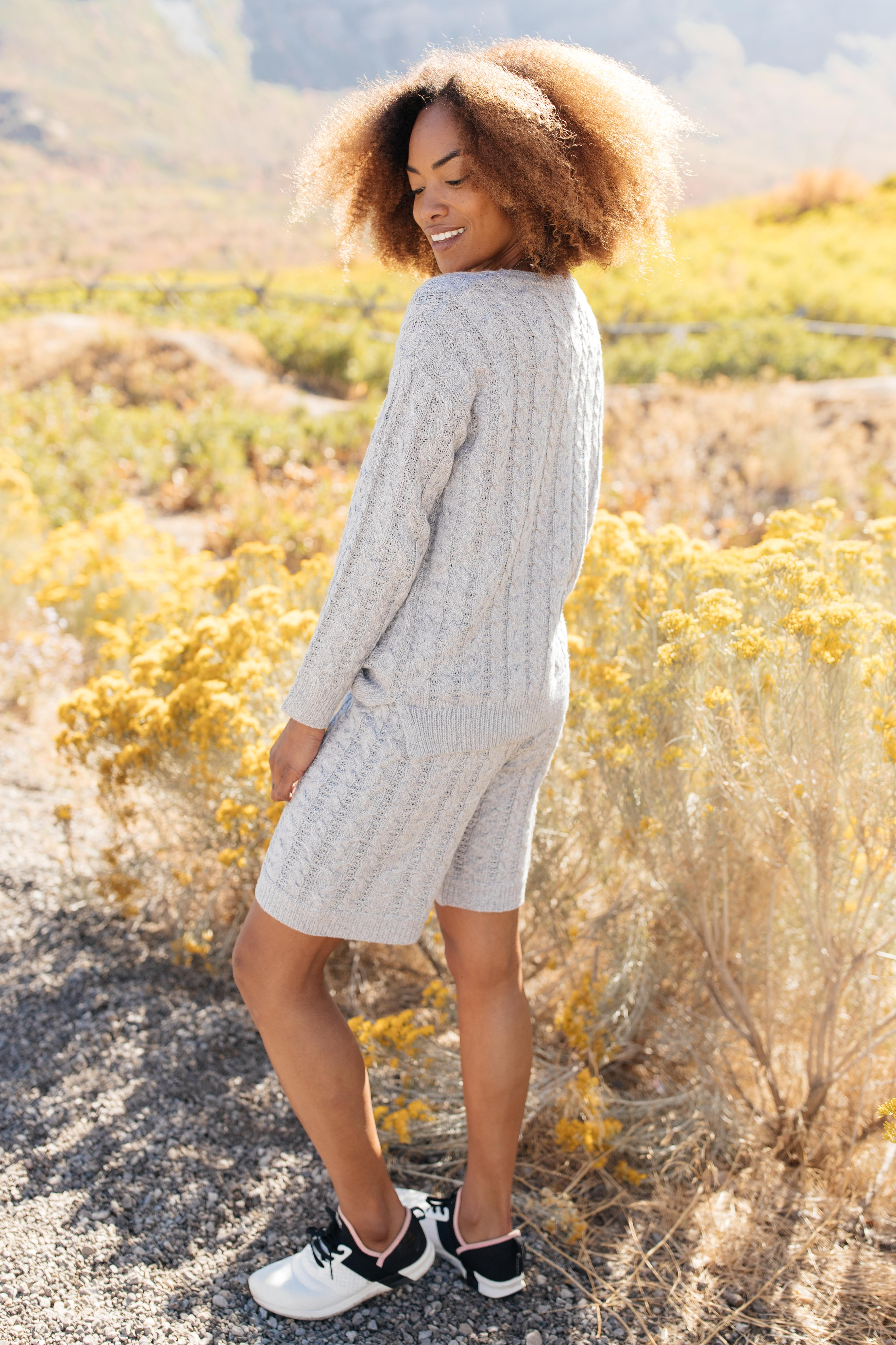 SAMPLE Camila Cable Knit Sweater