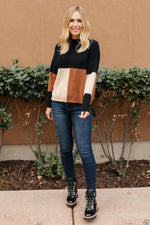 Load image into Gallery viewer, Chloe Color Block Top in Natural