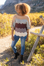 Load image into Gallery viewer, SAMPLE Designed For Details Sweater in Burgundy