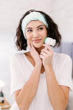 Load image into Gallery viewer, Facial Brush & Headband Set in Blue