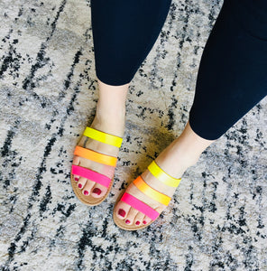 Neon Flat Sandals - KaraMarie Boutique