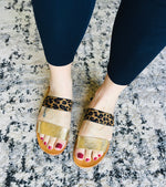 Load image into Gallery viewer, Elastic Double Strap Sandal - Leopard - KaraMarie Boutique
