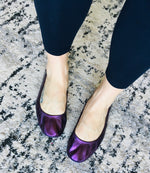 Load image into Gallery viewer, The Storehouse Flats - Black Grape Rainbow - KaraMarie Boutique