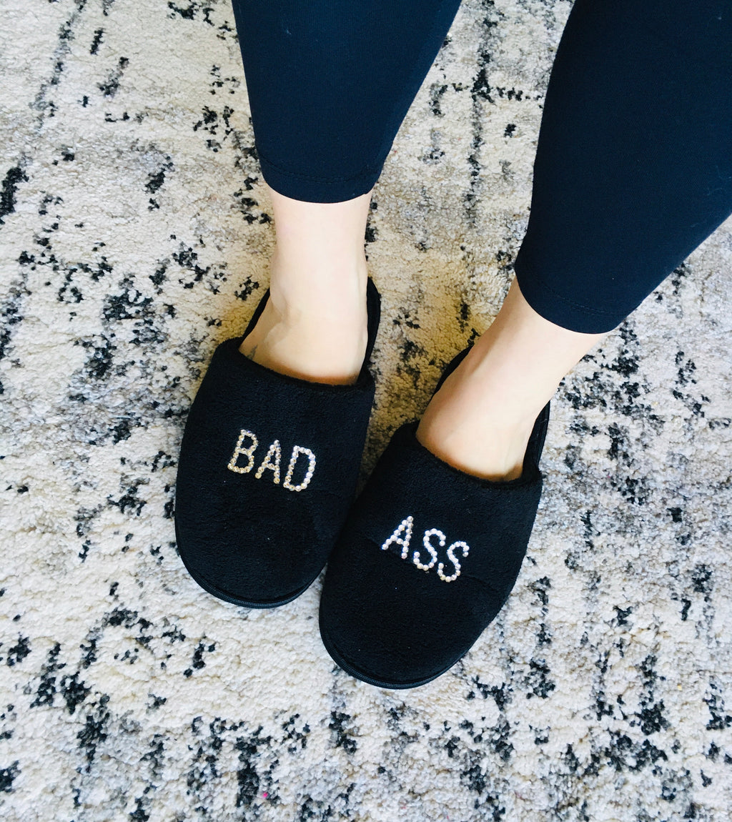 Crystallized Bad Ass Slippers - KaraMarie Boutique