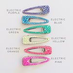 Load image into Gallery viewer, ITS ELECTRIC! Sparkly Wide OPEN MIDDLE Hair Clip - KaraMarie Exclusive! Multiple Colors! - KaraMarie Boutique