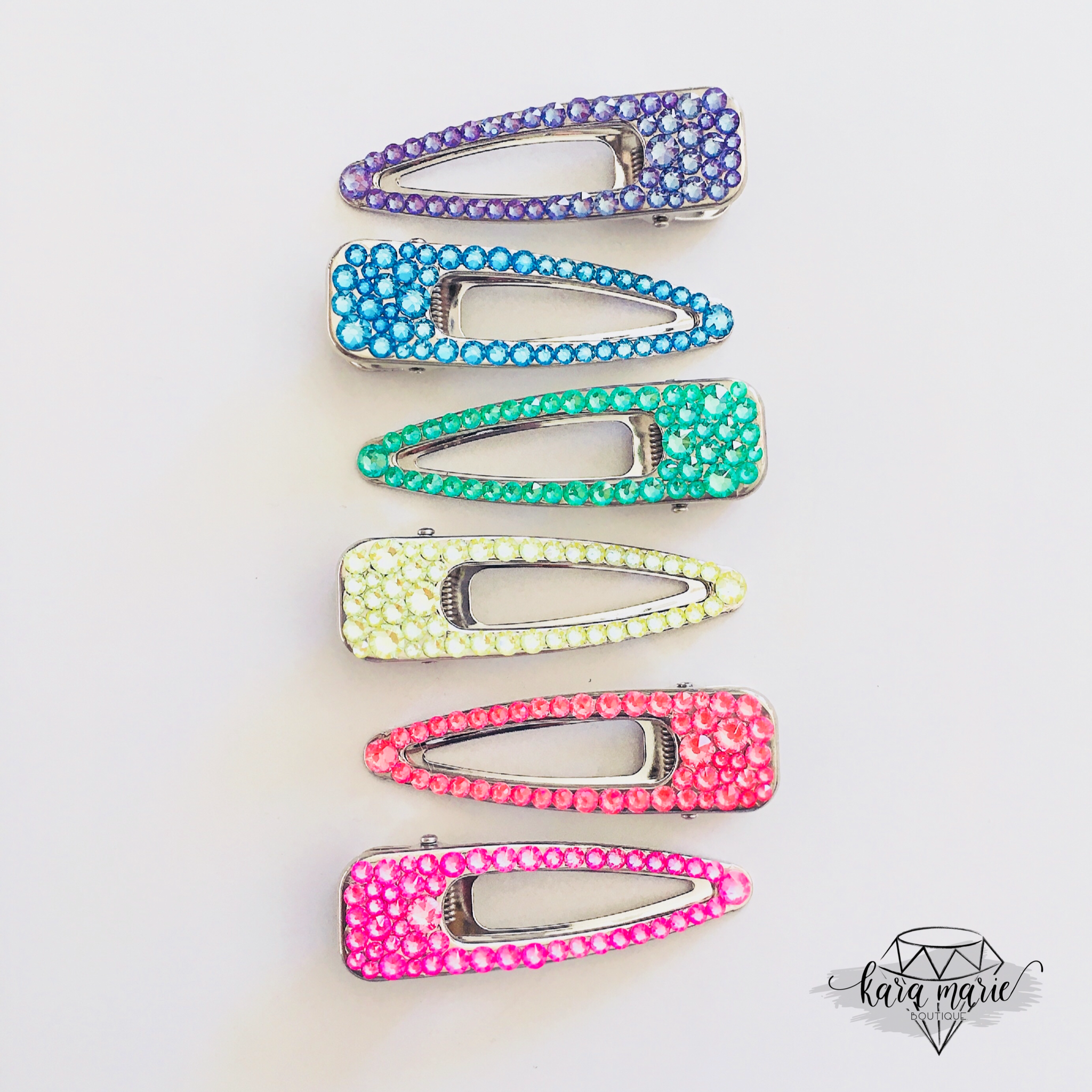 ITS ELECTRIC! Sparkly Wide OPEN MIDDLE Hair Clip - KaraMarie Exclusive! Multiple Colors! - KaraMarie Boutique