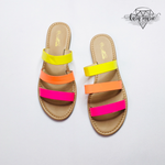 Load image into Gallery viewer, Neon Flat Sandals - KaraMarie Boutique