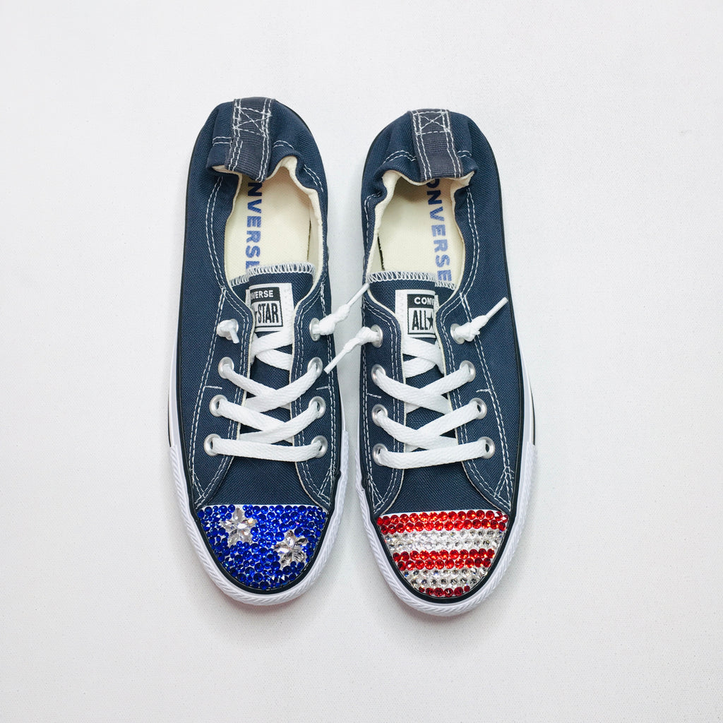 USA Crystallized Chucks! - KaraMarie Boutique