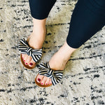 Load image into Gallery viewer, Bow Sandals - Black + White! - KaraMarie Boutique