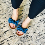 Load image into Gallery viewer, Bow Sandals - Denim! - KaraMarie Boutique