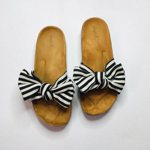 Bow Sandals - Black + White! - KaraMarie Boutique