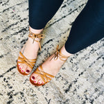 Load image into Gallery viewer, Strappy Sandals - Brown - KaraMarie Boutique